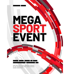 poster template design for sport event sport vector image