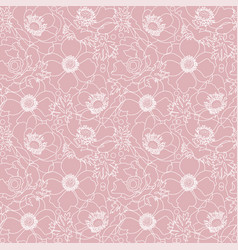 powdery pink lace flowers poppy elegant vector image