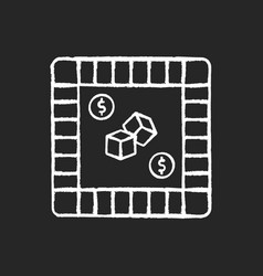 Property trading game chalk white icon on black vector