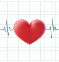 Pulse heart on a screen vector