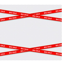 Sale restriction red stripes discount zone vector