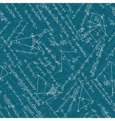 Seamless math elements on school board eps 10 vector