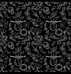 Seamless pattern 4 contour of elements for design vector