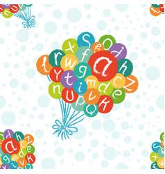 seamless pattern - funny english alphabet hand vector image