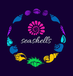 Seashell circle vector