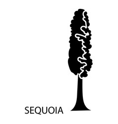 sequoia icon simple style vector image