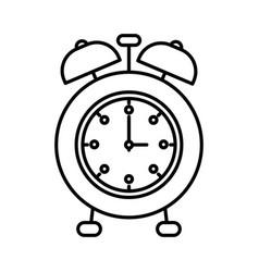 sketch silhouette image alarm clock vector image