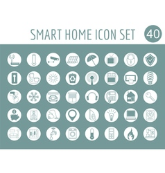 Smart house concept Icon set Flat style design vector