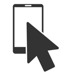 smartphone arrow pointer flat icon vector image