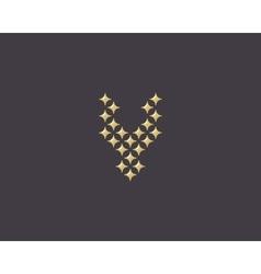 Stars letter y logotype luxury abc icon vector