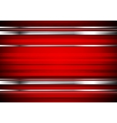 Striped tech metallic corporate background vector image