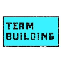 Team building pixel stamp vector