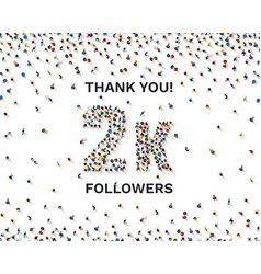 Thank you followers peoples 2k online social vector