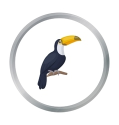 Toucan icon in cartoon style isolated on white vector image