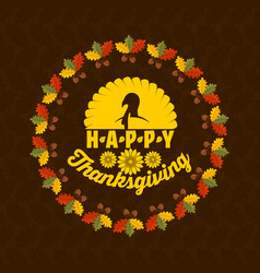 Typography of thanksgiving vector