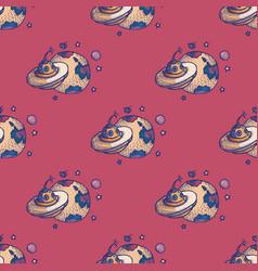 Ufo seamless pattern vector