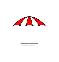 umbrella beach icon design template isolated vector image