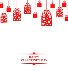 Valentine gift hang red vector