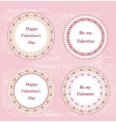 Valentines day badges and labels vector image