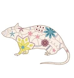 Vintage rat vector image