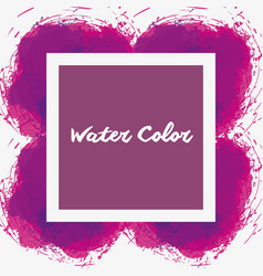 Watercolor purple emblem decorative art vector