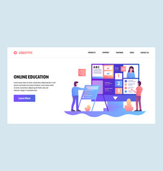 web site design template online education vector image