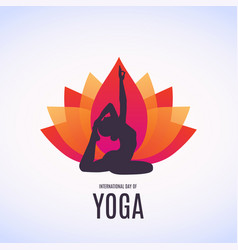 Woman doing asana for vector