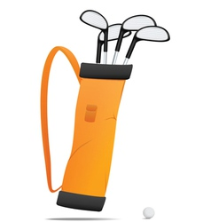 Bag with golf equipment vector image vector image