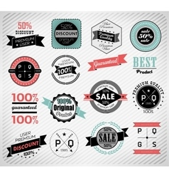 Premium Quality Guarantee and sale Labels vector image vector image