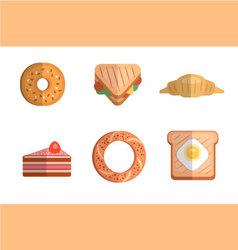 Brakfast icons vector image