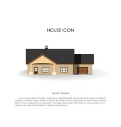 House icon in flat style on white background vector image