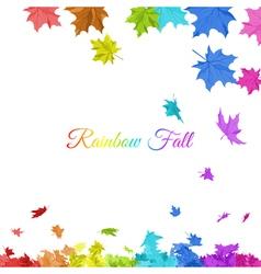 Rainbow Maple Leaves vector image