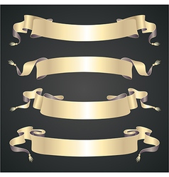 Retro ribbons set vector