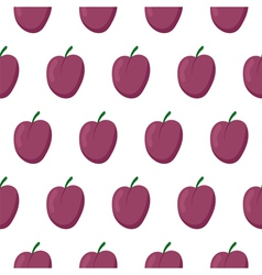 Seamless pattern with plums vector image vector image