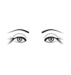 two eyelash extensions vector image