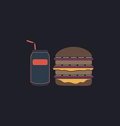fast food computer symbol vector image