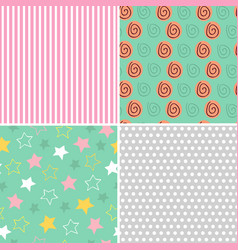 set of isolated seamless pattern baby abstract vector image