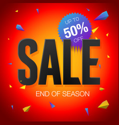 final sale poster or flyer design end of season vector image