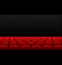 Rows of red cinema movie theater seats on vector