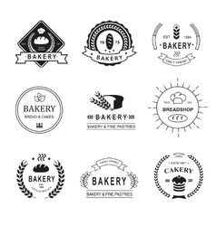 Set of bakery logos labels badges and design vector image vector image