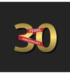 30 years anniversary vector