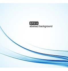 Abstract background Blue waves on white background vector