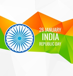 Abstract indian republic day design vector