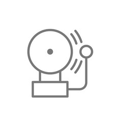 Alarm bell line icon vector