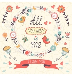 All You need is Me Love concept vector