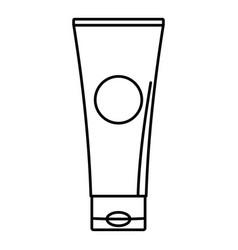 Aloe tube icon outline style vector