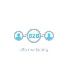 B2b marketing icon vector