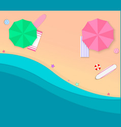 beach and sand vector image