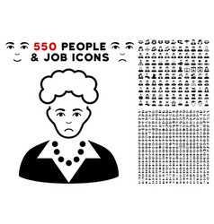 blonde lady icon with bonus vector image