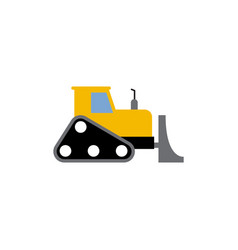 bulldozer icon design template isolated vector image